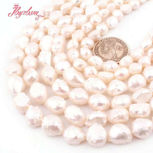 """8-10 9-11mm White Keshi Edsion Natural Freshwater Pearl Stone for DIY Jewelry15/"""""""
