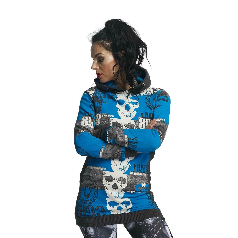 YAKUZA - Damen Flex Long Hoodie GLHOB 11107  Reel  dark shadow (blau)