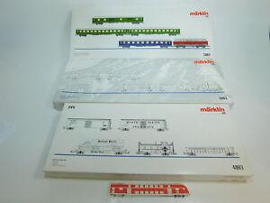 BL420-5-3x-Maerklin-H0-Leerkarton-fuer-Gueterwagen-Set-etc-2863-2864-4863