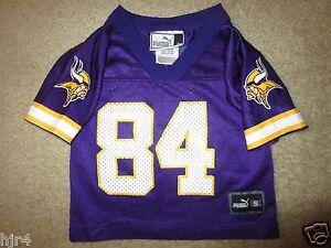 huge selection of bb06e 1da56 Details about Randy Moss #84 Minnesota Vikings NFL Puma Jersey Toddler 2T  Rookie