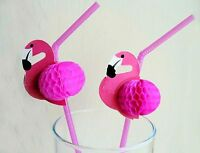 180 Pink Flamingo Tissue Straws Tropical Luau Party Supplies Wholesale Bulk Lot