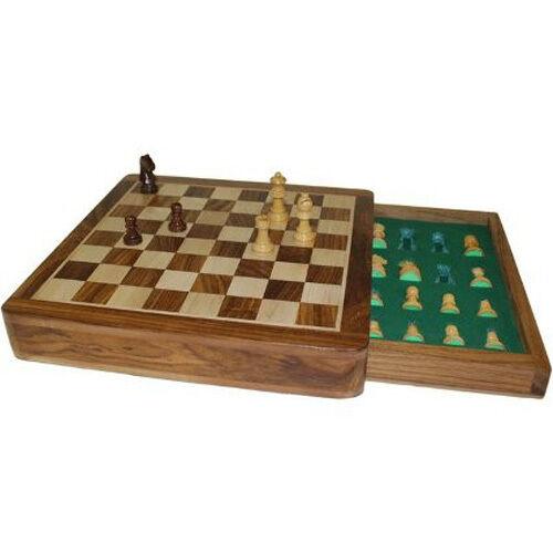 Jeu d'échecs carré Échecs Voyage Magnétique 25cm (10  )