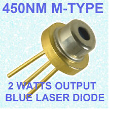 USED 2w blue laser diode m140 M-type 445nm 450nm  blue beam laser diode