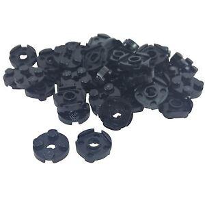 50 NEW LEGO Plate, Round 2 x 2 with Axle Hole black | eBay