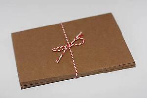 50-x-Briefumschlaege-C6-gerippt-Kraftpapier-Kraft-11-4cm-x-16-2cm