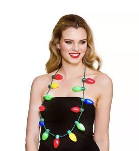 Chrismas Light Necklace Novelty Xmas day Fancy Dress Accessory