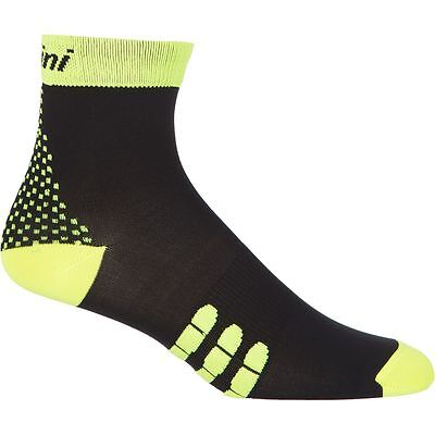 Yellow by Santini PRL 2.0 Winter Cycling Socks in Black