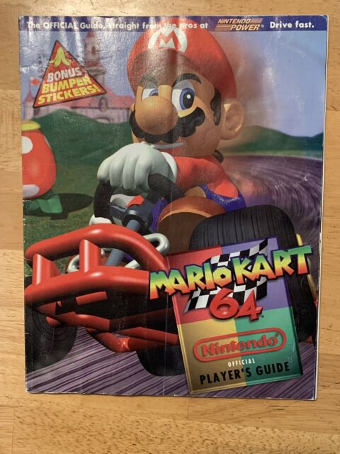 Mario Kart 64 Nintendo Player S Guide With Stickers For Sale