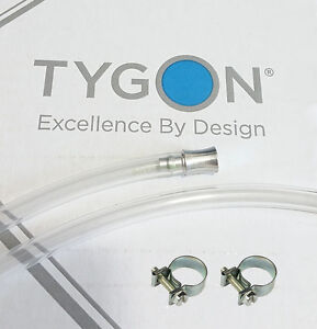 Tygon-2375-tubing-9-5-10mm-ID-30cm-length-2x-SS-CLAMPS-Aluminium-PLUG-TBE-018