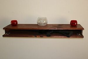 Image Is Loading Rustic Wood Floating Shelf Hidden Storage  Rifle Compartment