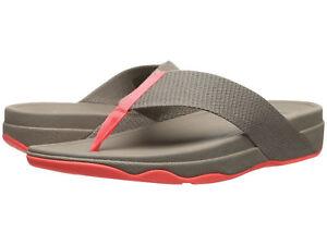 d38ba9954ef Image is loading Women-FitFlop-Surfa-Fabric-Flip-Flop-Sandal-568-