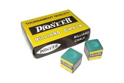 """Weitere Sportarten Billard Billard Kreide Billardkreide Chalk """" Pioneer """" Grün 12er Pack"""