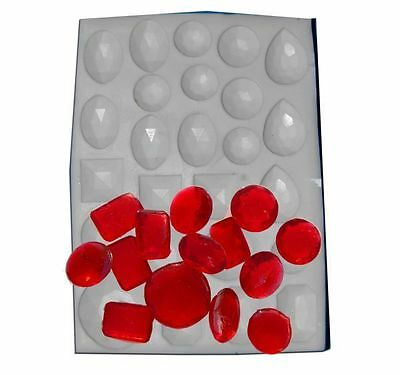 Assorted Gem Jewels Hard Candy Mould - Boiled Sweet isomalt gelatine fondant