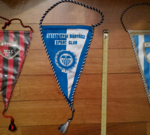 Tatabanyai-Banyasz-Pennant-Sport-Club-TBSC-Club-Hungary-Football-VIntage-Retro
