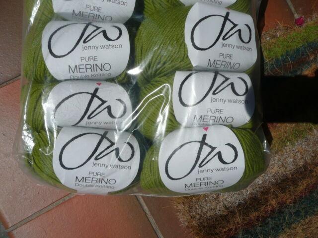 JENNY WATSON APPLE GREEN DOUBLE KNITTING WOOL 100% PURE MERINO WOOL 5X50G WM18