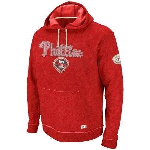 MLB Baseball Hoody Hoodie Kaputzenpullover PHILADELPHIA PHILLIES Vintage Stretch