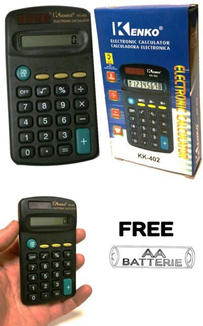 1 PACK ELECTRONIC CALCULATOR PENNINE SMALL DIGIT DISPLAY MINI POCKET SIZE FREE B