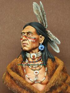 Unassambled-1-10-Chieftain-Leader-Man-Bust-Resin-Figure-Miniature-model-kits-GK