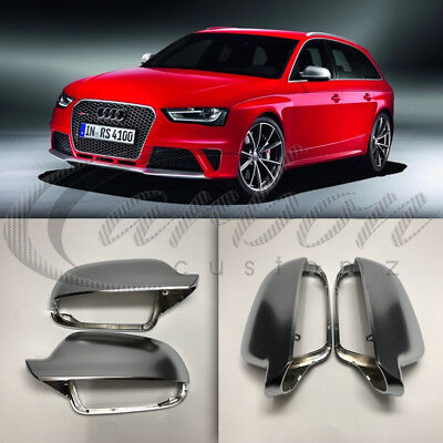 B8 Polished Chrome Aluminium Mirror Covers /'S4//RS4/' Style 08-15 Audi A4//S4//RS4