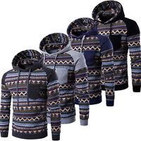 Mens Plain Long Sleeve Hooded SweatShirt Hoodie Sweat Hoody Jumper Jacket Coat
