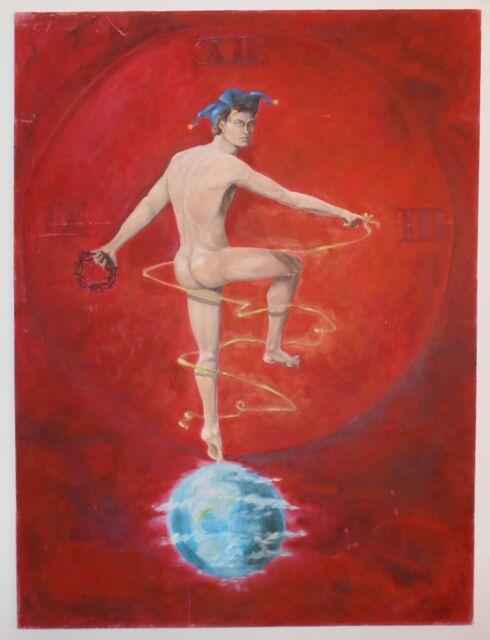 "Oil on Canvas Fine Art Male Figure Modern, Contemporary by Mark Kent 48"""