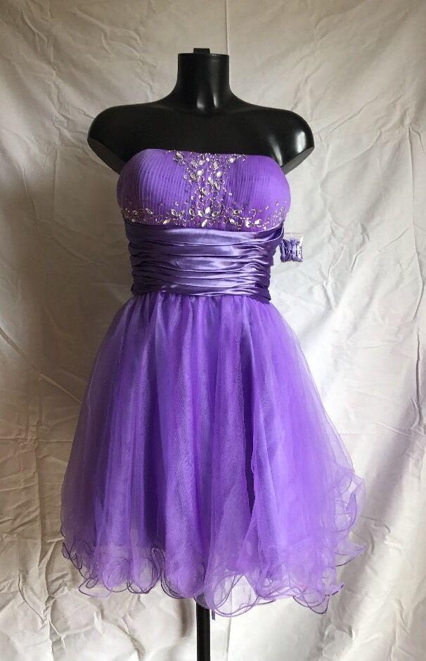 Original Landmark Party Prom Evening Cocktail Dress Large lila Lavender lila