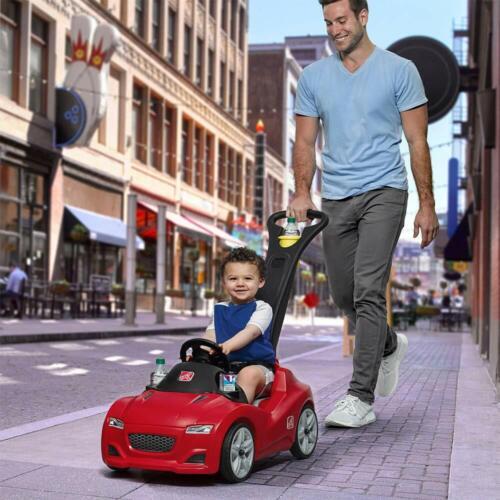 Kids Push Car Toddler Pull Pink Buggy Cruiser Ride On Toy Whisper Wheels Red