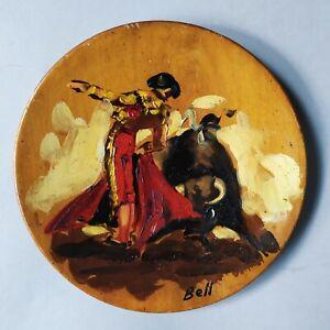 Tableau Espagnol Peinture A L Huile Sur Bois Sur Le Theme De La Corrida N 7 Ebay