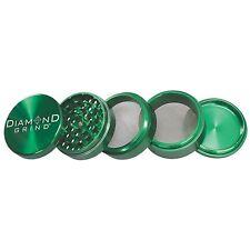 "NEW DIAMOND GRIND 2.00"" Aluminum 5 piece herb Grinder 2 screens 50mm GOLD"