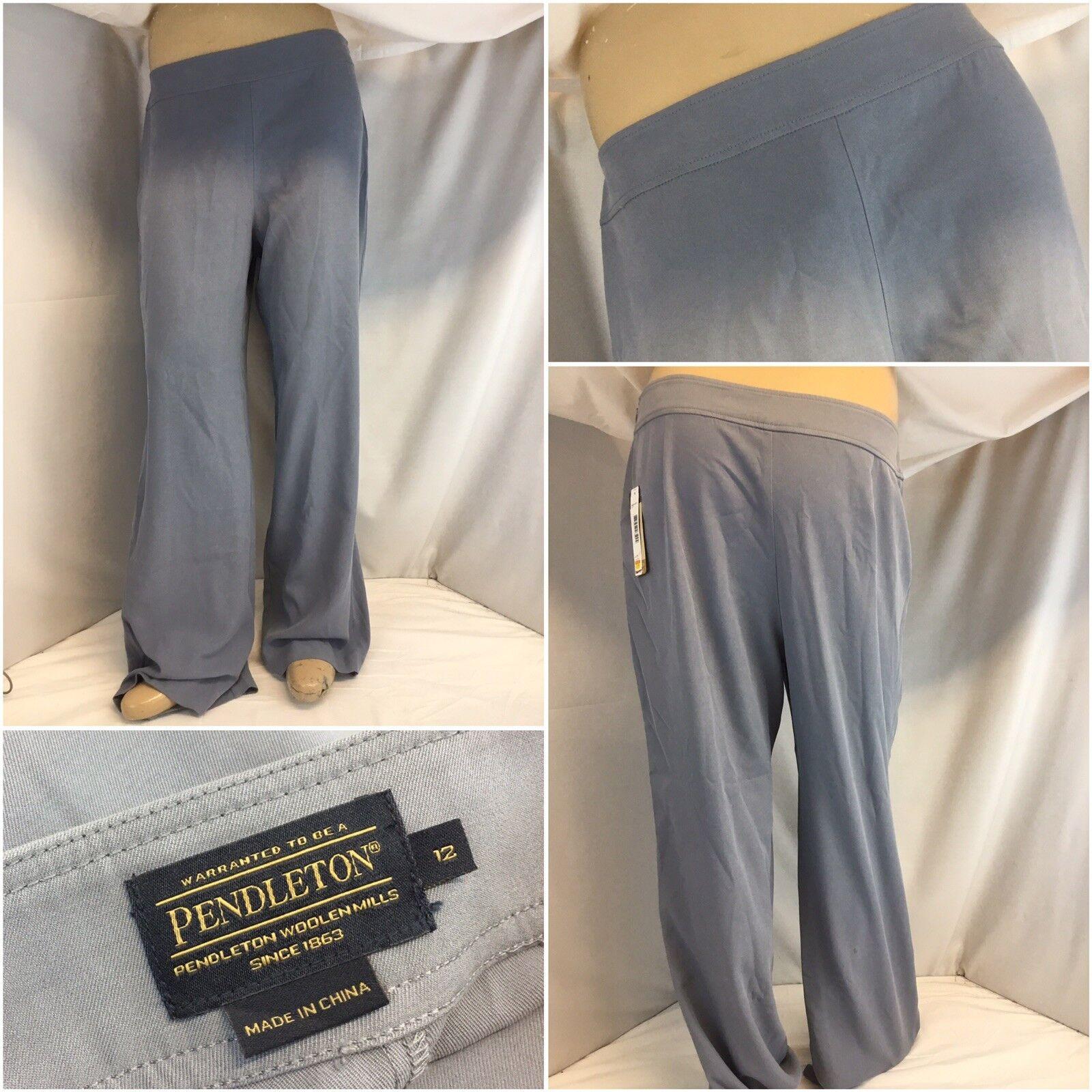 Pendleton Pants Sz 12 Light bluee Silk Boot Cut NWT  YGI K8-124