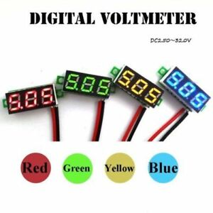 2-Draht-DC2-5-30V-LED-Mini-Digital-Voltmeter-Spannungsanzeige-3-Digital-Panel