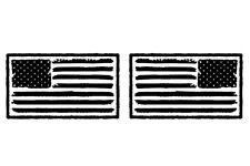 Distressed American Flag USA Hood Decal Kit for your Jeep Wrangler