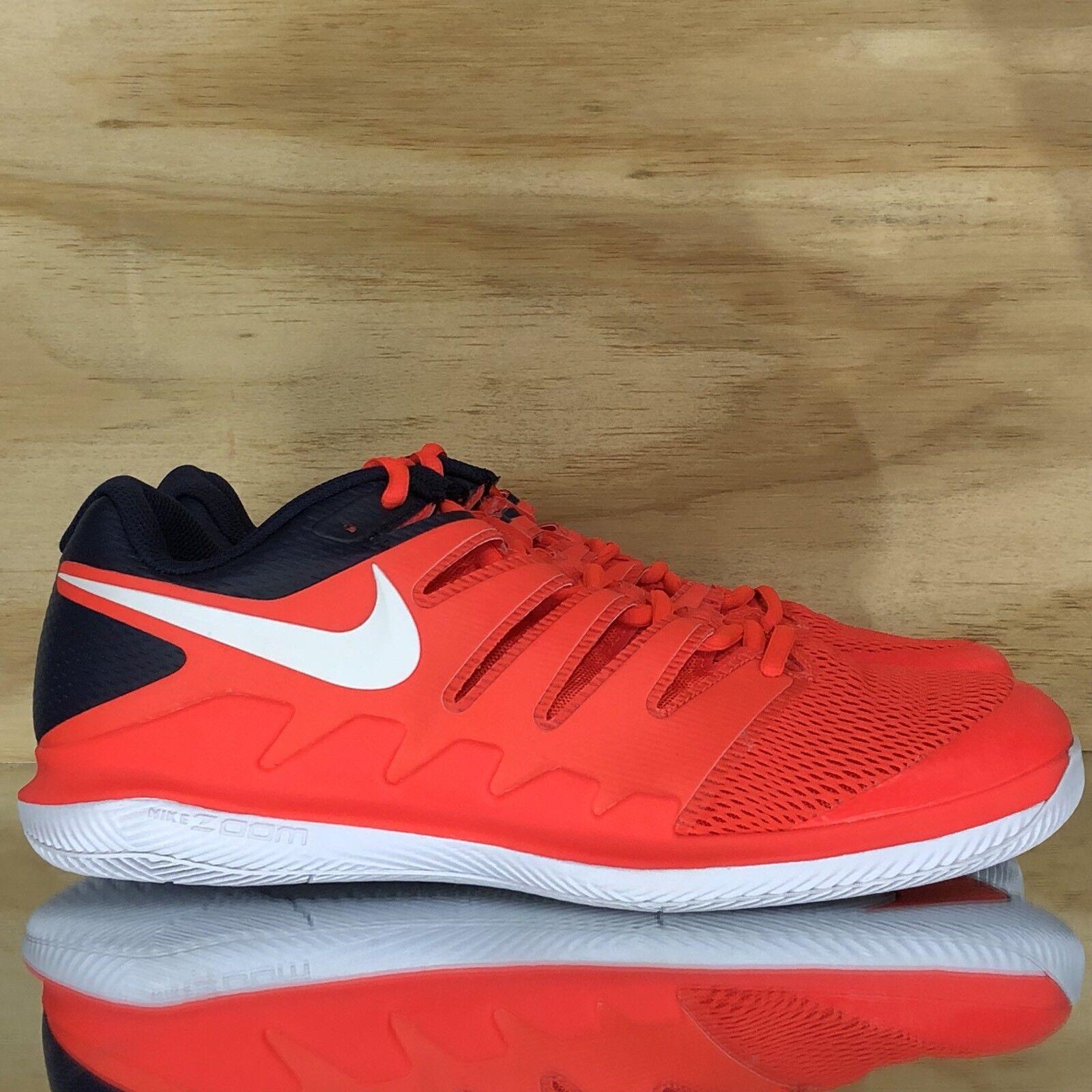 Nike Air Zoom Vapor X HC Crimson Navy White Tennis Shoes AA8030-600 Size 12.5