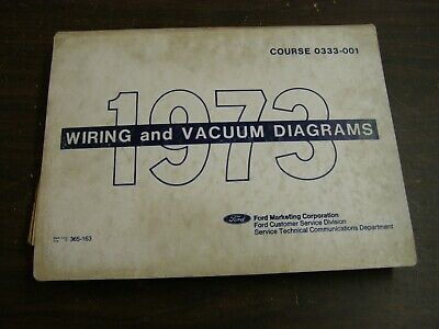 vintage car  truck parts oem ford 1969 wiring diagram book