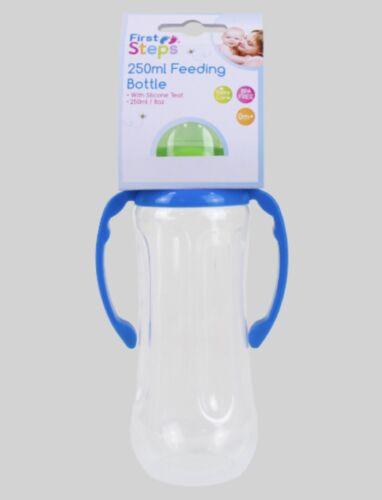2x 250 ml Pince Bouteille Bébé Alimentation Jus Lait Eau Bébé BPA Free