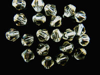 Pretty 100Pcs Glass Crystal Faceted Bicone Spacer Beads Jewelry Findings 4mm