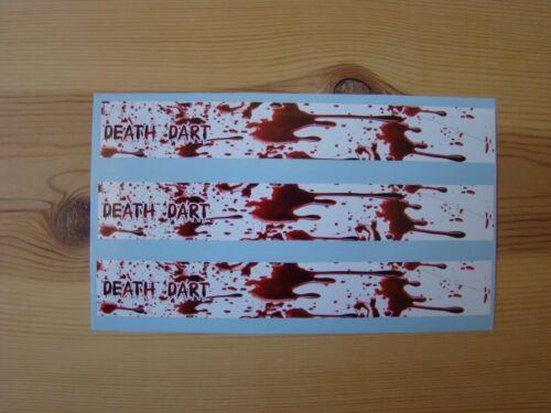 ARROW WRAPS CUSTOM DEATH DART BLOOD DRIP WRAPS 13 PACK bow hunting
