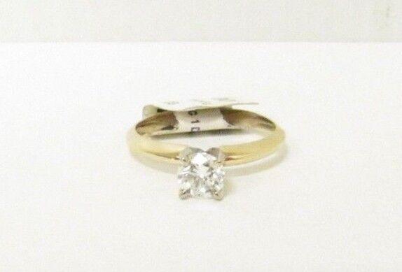 (RI1) Ladies 14K Yellow gold Diamond Ring - sz. 5.75 - 1.9 g - .45 TCW
