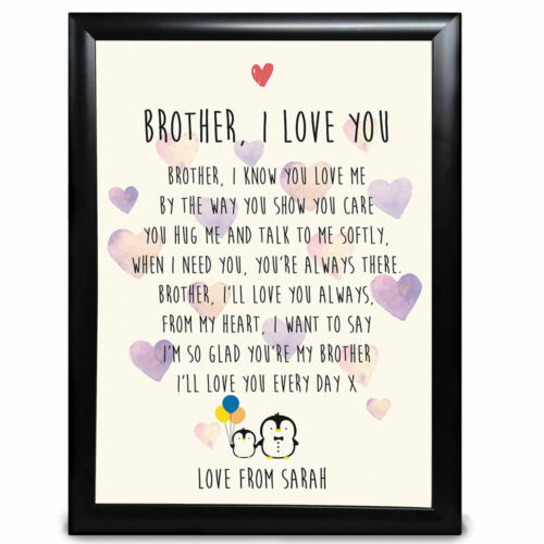 Personalised Sister Poem Gifts Penguins Cute Birthday Christmas Thank You