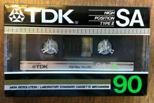 TDK SA 90 High Position Type II Cassette Tape (1) NEW / Sealed