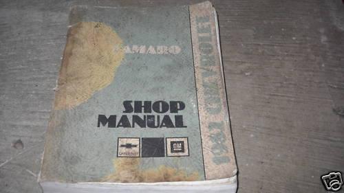 1982 GM Chevrolet Chevy Camaro Service Repair Workshop Manual OEM VERY WORN