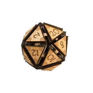 """Crafts - 20 Sided Dice - Art Kit - RAW Wood 1.5""""x1.5"""""""