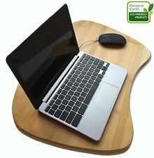 Bamboo Lap Desk With Memory Foam Cushion And Suede Pillow Cover. Perfect Stud...