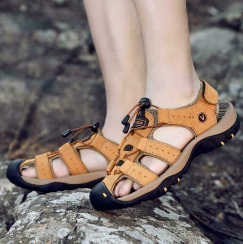 Mens Closed Toe Hiking Fisherman Sports Casual Sandals Beach Outdoor Shoes Size