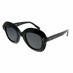 893bdee2f9311 Celine Lola CL 41445 807 IR Black Plastic Round Sunglasses Grey Lens ...