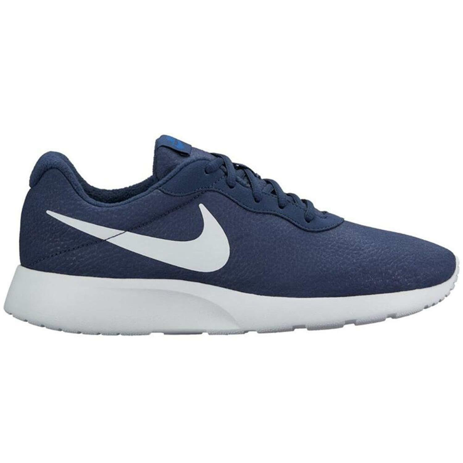 Nike Tanjun Premium Obsidian Navy/White Men's Running Shoes 876899-402