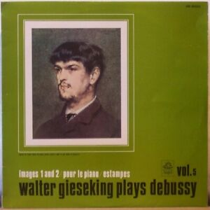 WALTER-GIESEKING-Plays-Debussy-LP-Images-1-and-2-Pour-le-Piano-Estampes-JAPAN