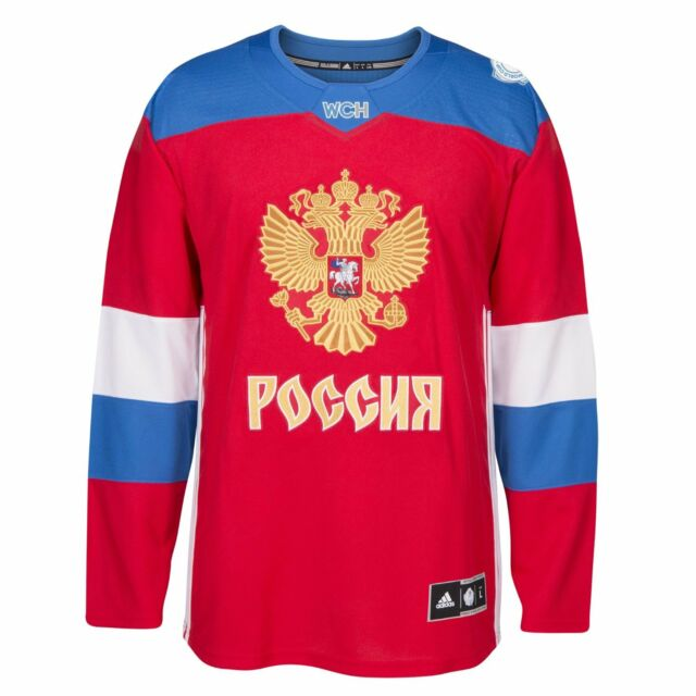online store bef6c 52a8c Team Russia 2016 World Cup of Hockey Adidas Men's Premier Red Jersey