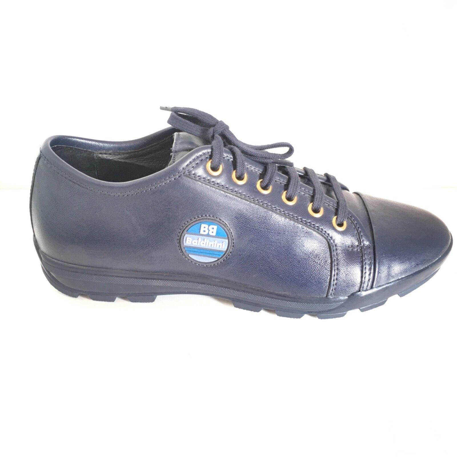 BALDININI zapatos n. 39 mujer BALW51 azul piel piel piel  hermoso