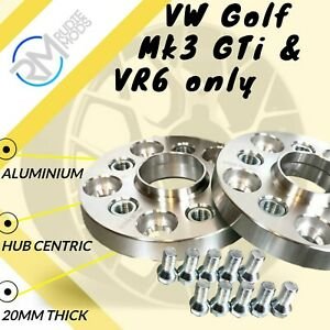 VW-Golf-Mk3-GTI-amp-VR6-solo-20mm-in-lega-Hubcentric-Wheel-Distanziatori-1-Paio